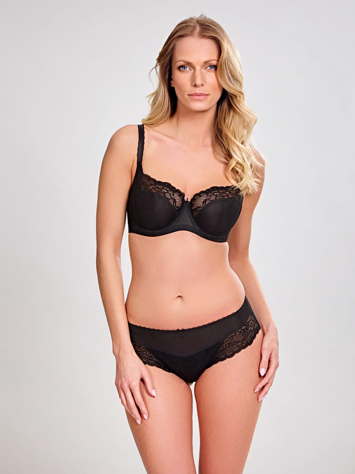 Бюстгальтеры 6951_013_Jasmine Balconnet Bra Black Front Trade 3