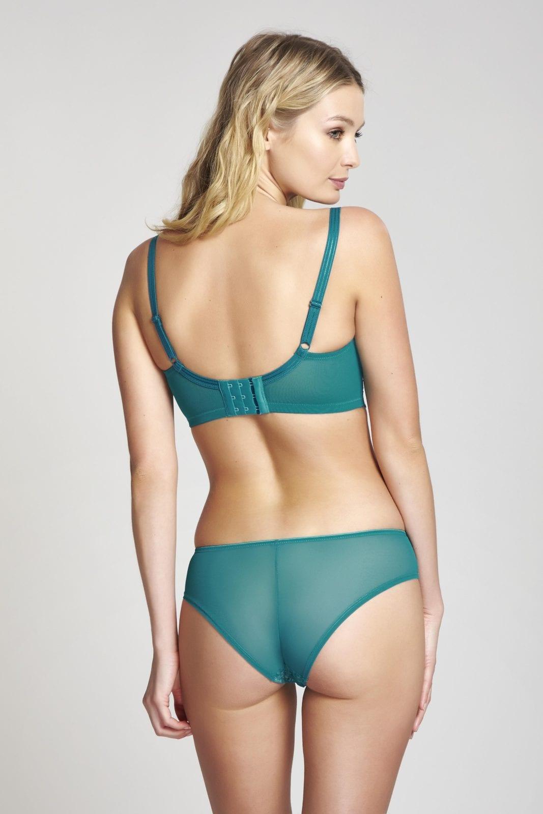 Бюстгальтеры 9357_845_Piper Midi Balconnet Bra Emerald Nude Back Trade 4-min