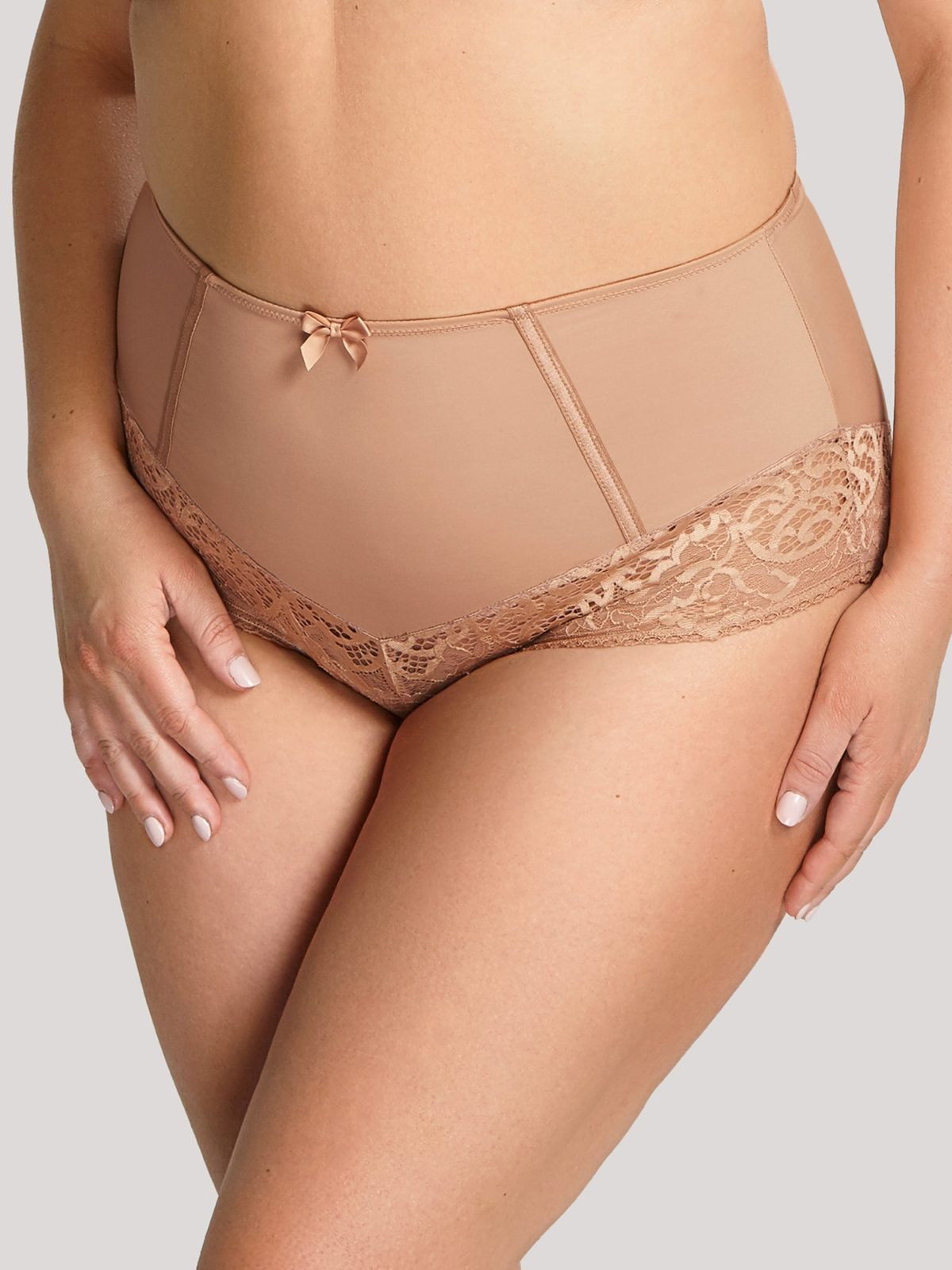 высокие 9682_908_1 Estel High Waist Brief Honey T F 1-min