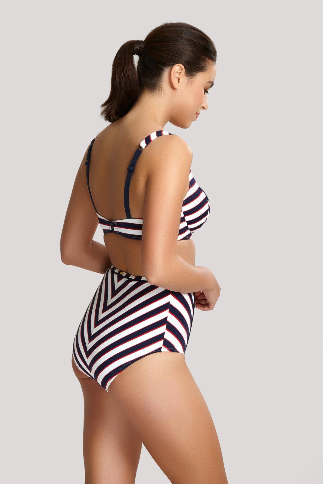 Купальники SW1372_622_2 Lucille Balconnet Bikini Top Navy Stripe T F 2-min