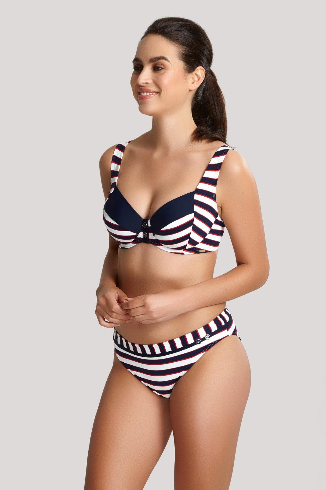 Купальники SW1372_622_5 Lucille Balconnet Bikini Top Navy Stripe T F 5-min