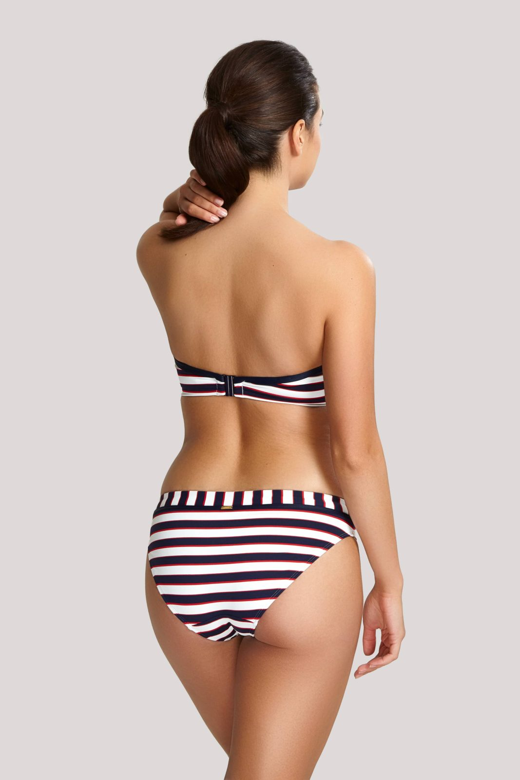 Купальник с формованной чашкой SW1373_622_2 Lucille Bandeau Bikini Navy Stripe T F 2-min