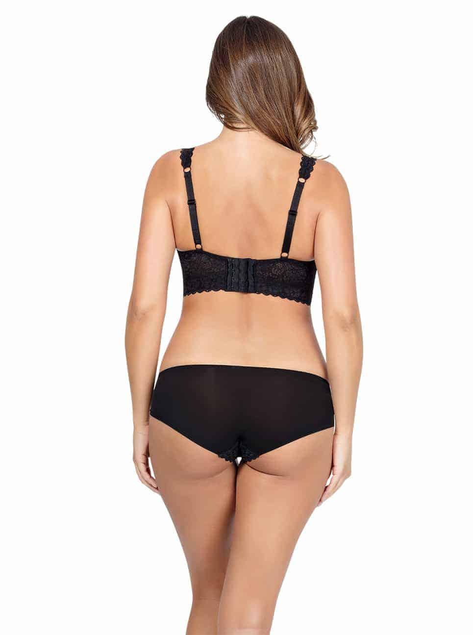 Базовое белье PARFAIT_Adriana_LaceBraletteP5482_BikiniP5483_Black_Back