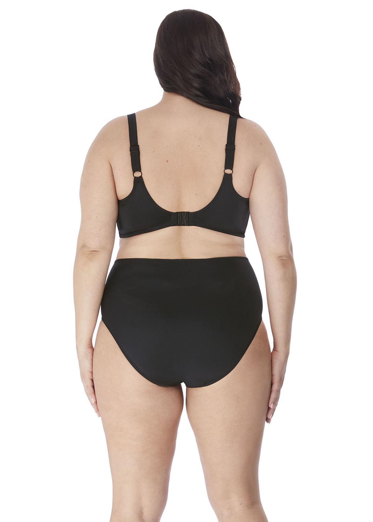 Купальники ES7192-BLK-back-Elomi-Swim-Magnetic-Black-Underwired-Sweetheart-Padded-Bikini-Top
